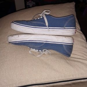 PREOWNED PAIR OF BLUE VANS US MENS SIZE 7.5